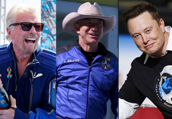 Branson's Virgin Galactic trails Bezos' Blue Origin in space tourism, while Musk's SpaceX is in a league of its own