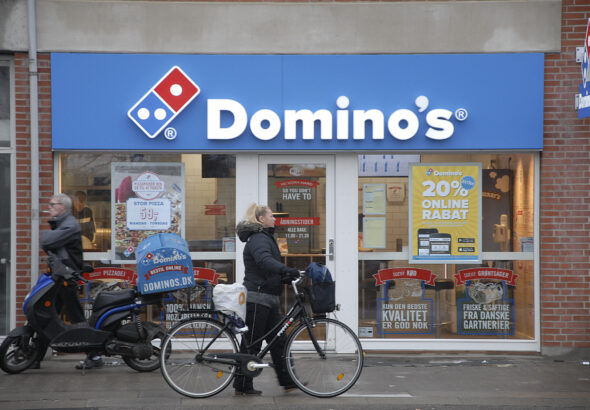 Domino's Pizza stock falls 3% after U.S. same-store sales turn negative