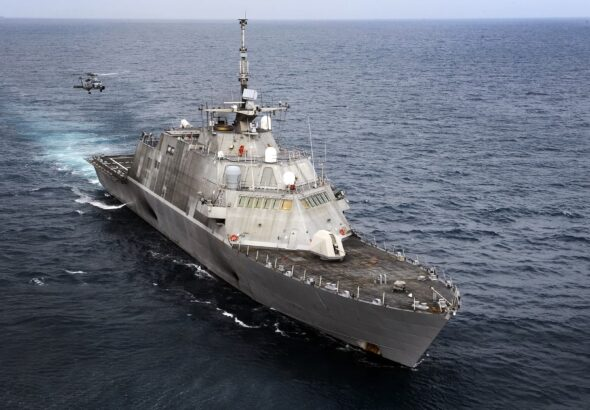 The Navy's most controversial warship enters rough seas